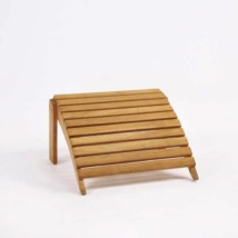 Teak Adirondack Foot Stool front angle view
