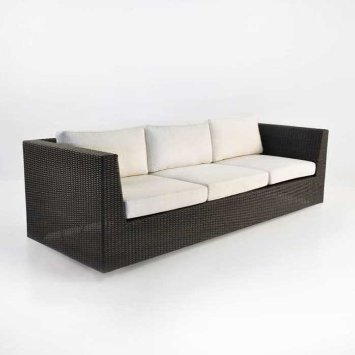 Antonio Outdoor Wicker Sofa (Java)-1335