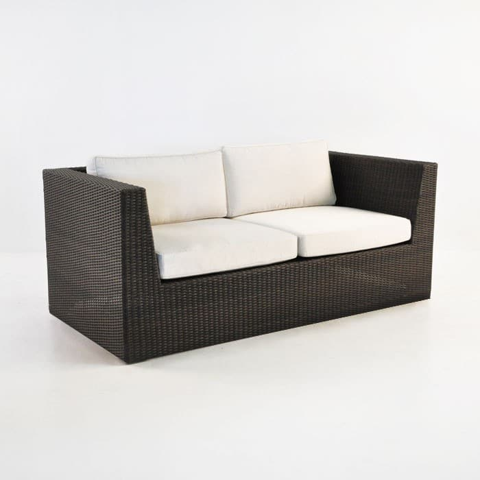 Antonio Outdoor Wicker Loveseat (Java)-0