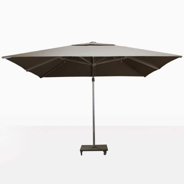 ascot taupe cantilever umbrella front