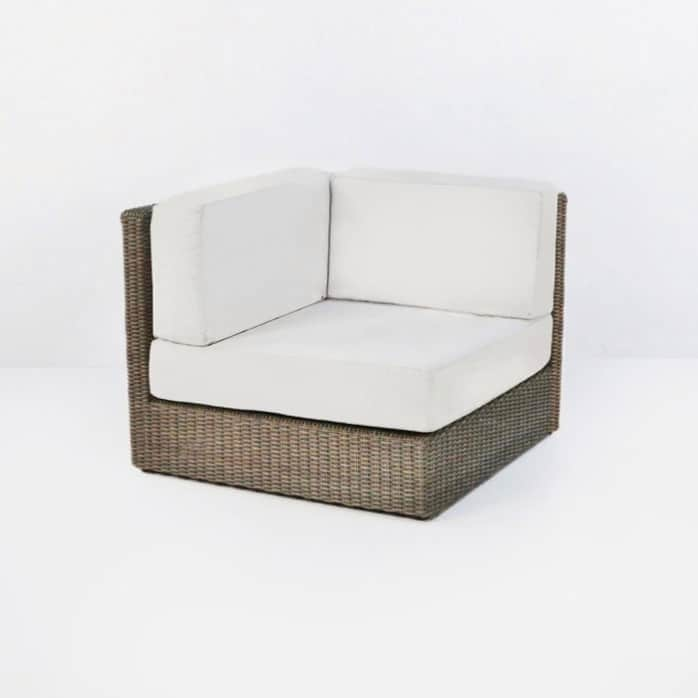 outdoor wicker corner chair cushion