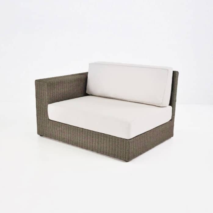 outdoor wicker right angle chair cushion