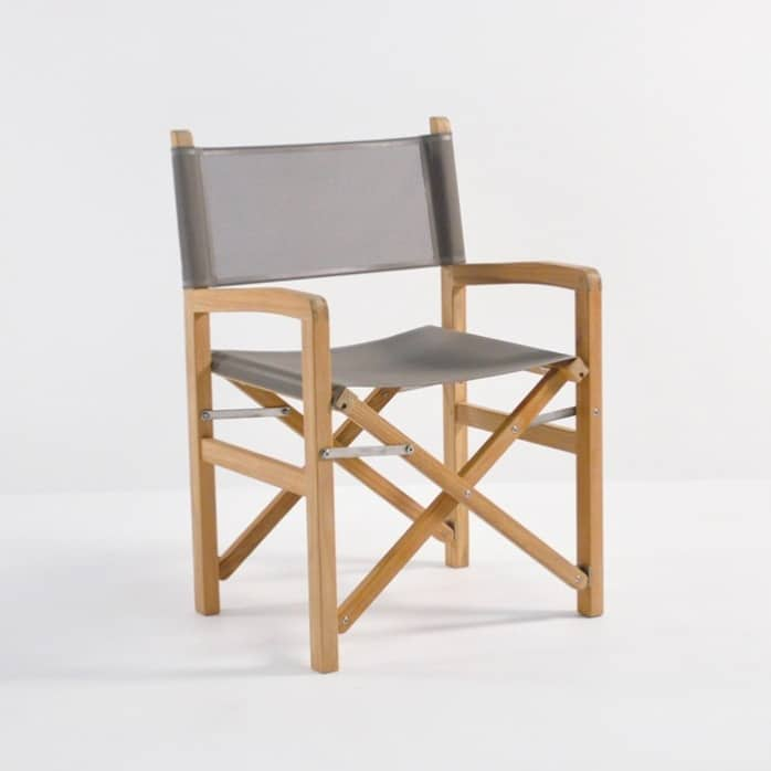 Cannes Teak Directors Chair With Batyline Mesh
