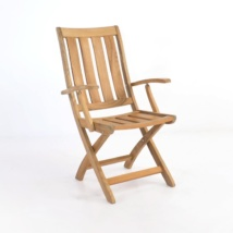 bella teak folding arm chair