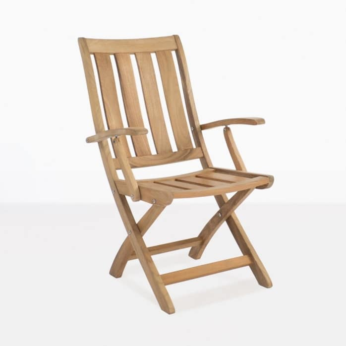 bella teak folding outdoor dining chair