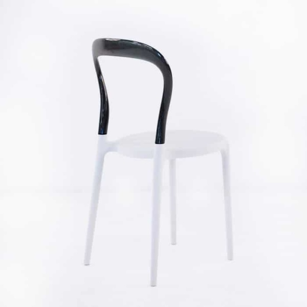 Bent Cafe Dining Chair (Black & White)-1198