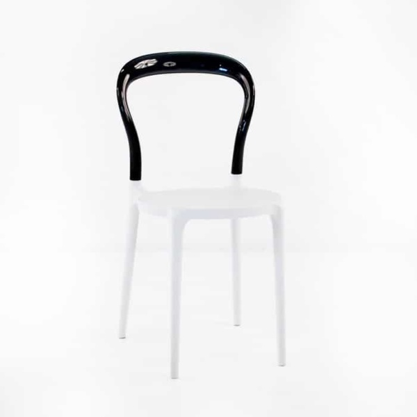 Bent Cafe Dining Chair (Black & White)-0