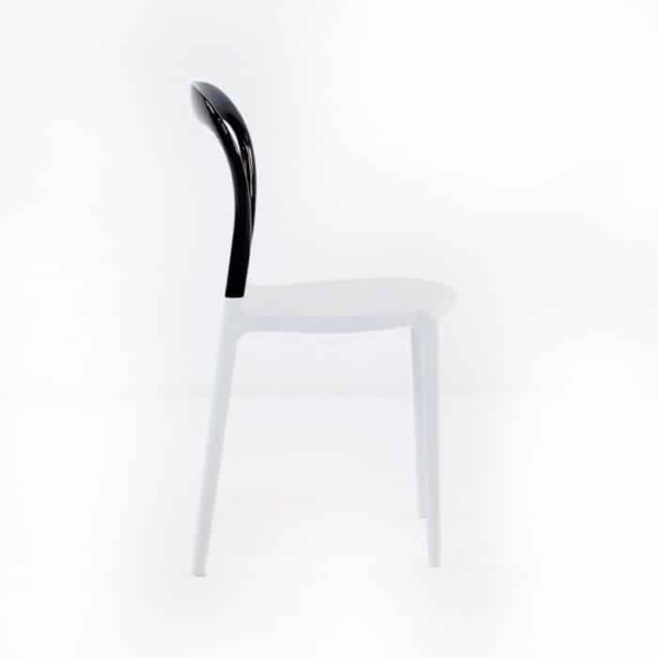 Bent Cafe Dining Chair (Black & White)-1199