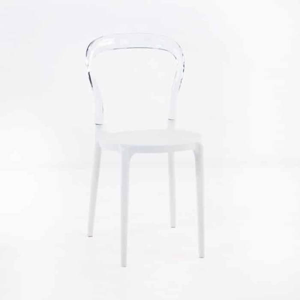 Bent Cafe Dining Chair (Clear)-0