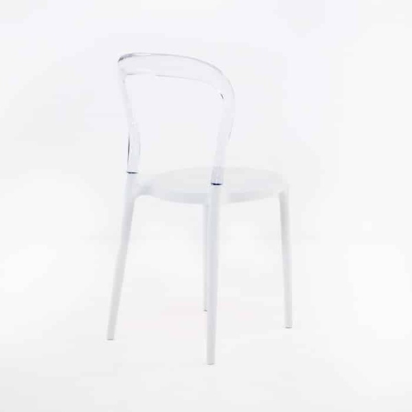 Bent Cafe Dining Chair (Clear)-1204