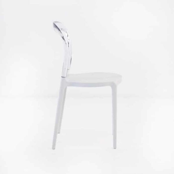 Bent Cafe Dining Chair (Clear)-1205
