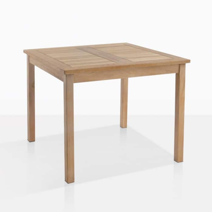 outdoor dining table teak square