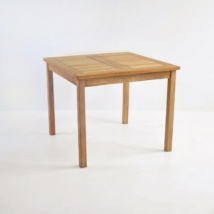 Bistro Style Square Teak Table