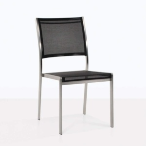 classic batyline® mesh stacking chair with stainless steel frame