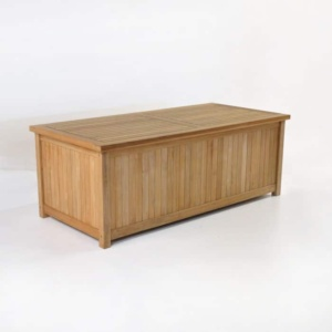 Teak Blanket Box front angle view