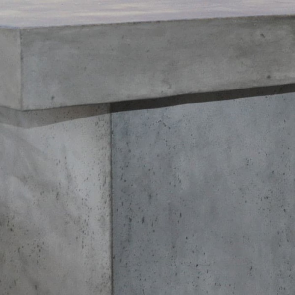 blok concrete outdoor dining table close up