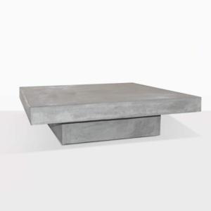 Blok Square Concrete Table Outdoor Angle