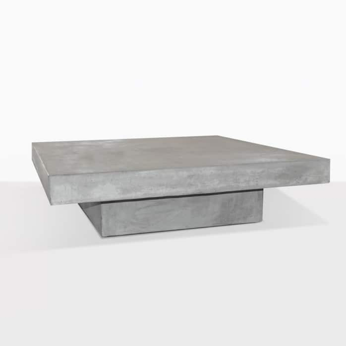Blok Square Concrete Table Outdoor Angle