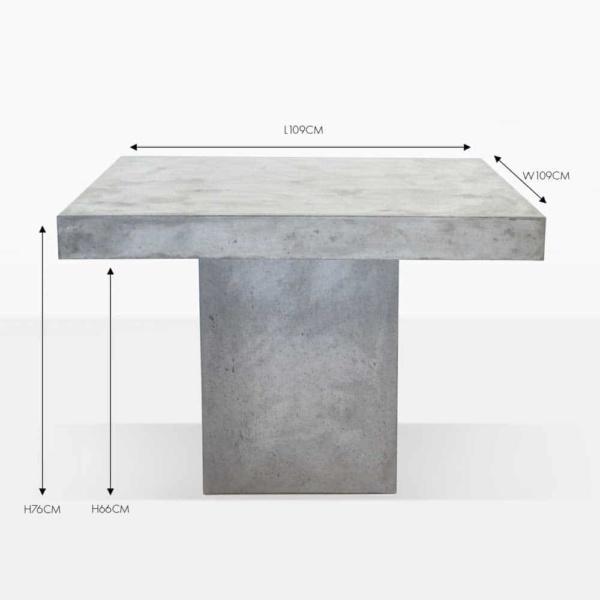 square blok concrete table