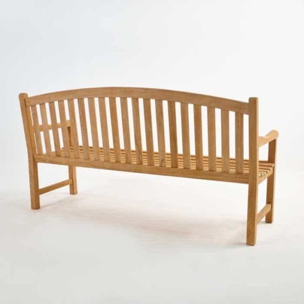 Bowback 3-Seater Teak Outdoor Bench-1455