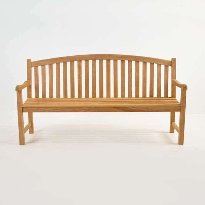 Bowback 3-Seater Teak Outdoor Bench-1457
