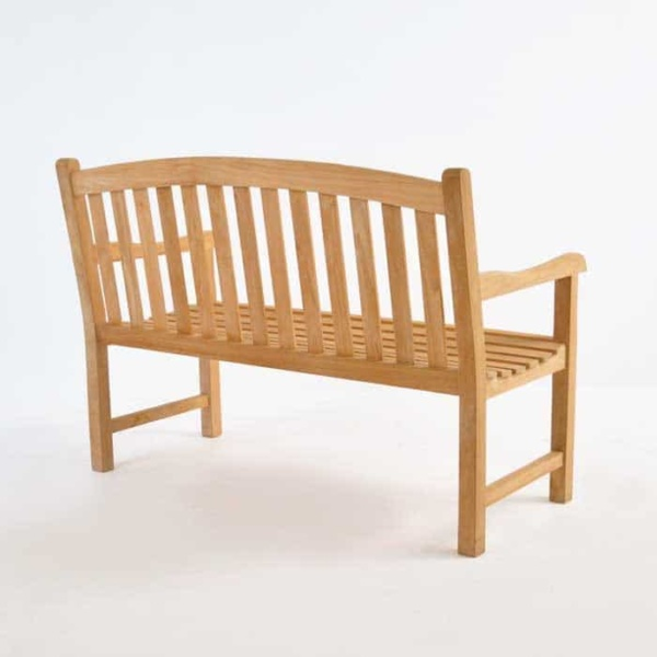 Bowback 2-Seater Teak Outdoor Bench-1453