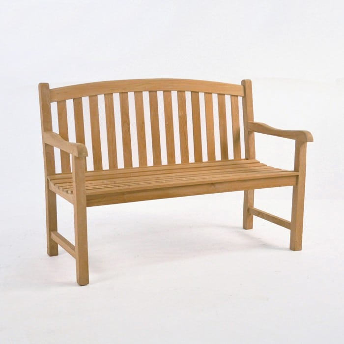 Bowback 2-Seater Teak Outdoor Bench-0