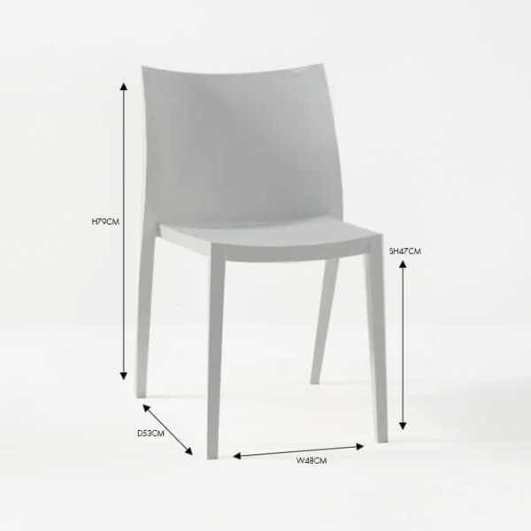 box chair grey outdoor dining chair