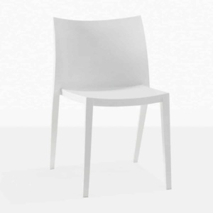Box Outdoor Dining Chair in Polypropylene (white)-0