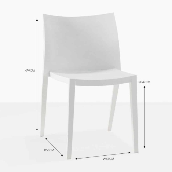 box chair white outdoor dining chair