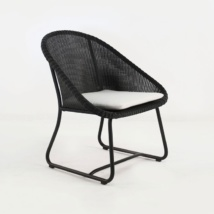 Breeze Outdoor Wicker Relaxing Chair (Black)-0