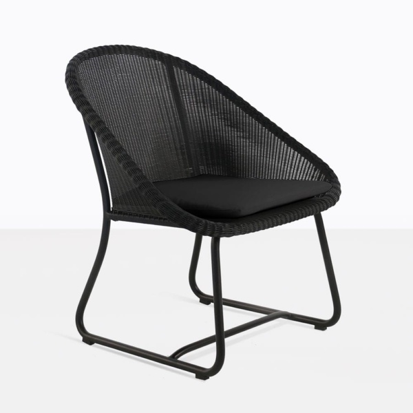 breeze black relaxing chair cushion angle