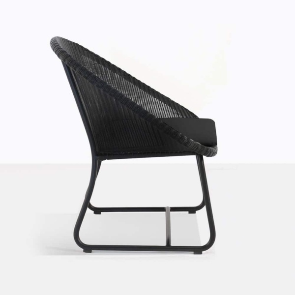 breeze black relaxing chair cushion side