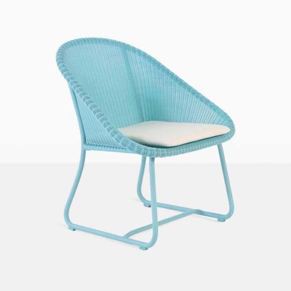 breeze blue angle wicker relaxing chair