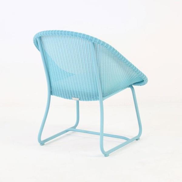 Breeze Outdoor Wicker Relaxing Chair (Blue)-1027