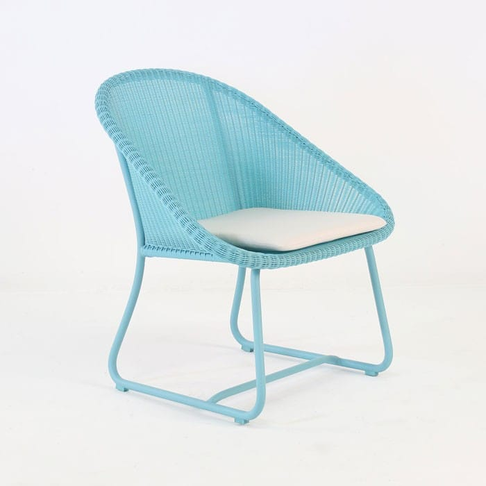 Breeze outdoor wicker relaxing chair blue design for Relaxing chair design