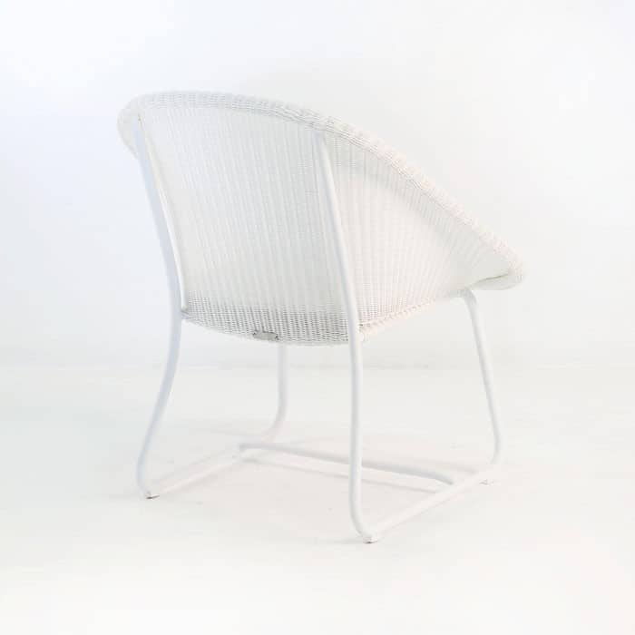 Breeze Outdoor Wicker Relaxing Chair (White)-1034