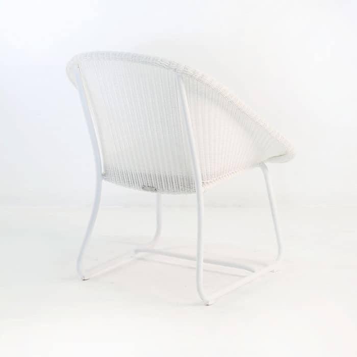 Breeze Outdoor Wicker Relaxing Chair (White)-1034