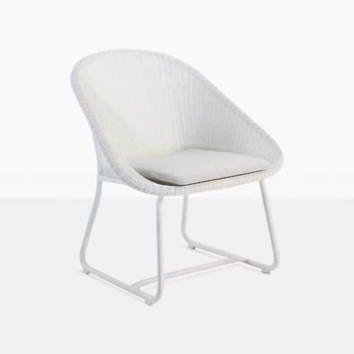breeze white relaxing wicker chair