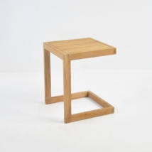 A-Grade Teak C-Table front angle view