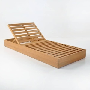 teak sunlounger without cushion