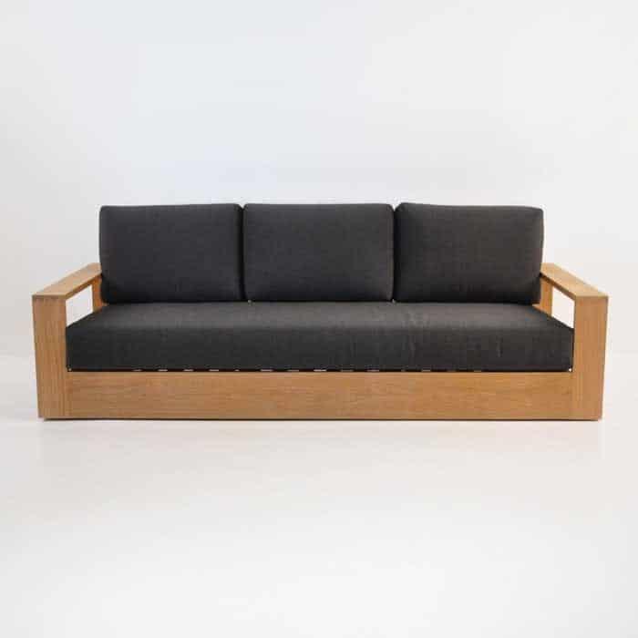 cabana teak sofa front view