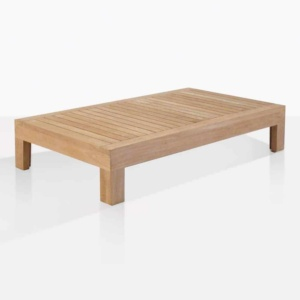 Cabo teak outdoor coffee table angle