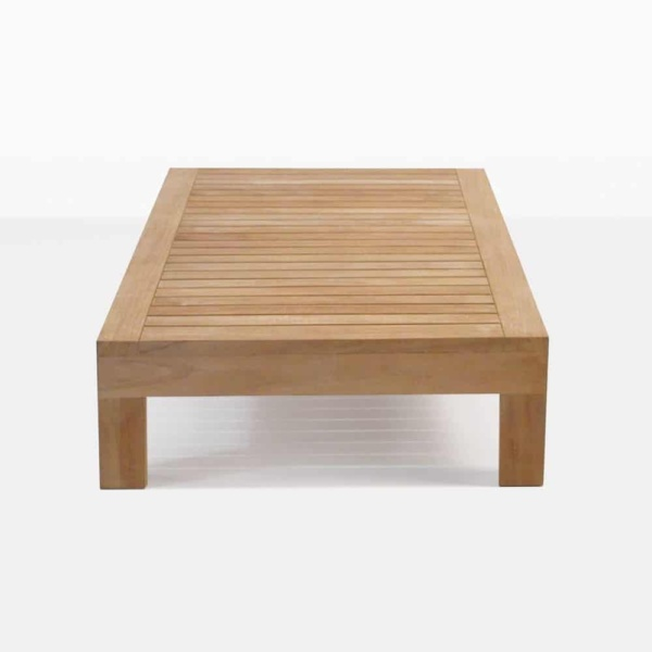 Cabo teak outdoor coffee table side