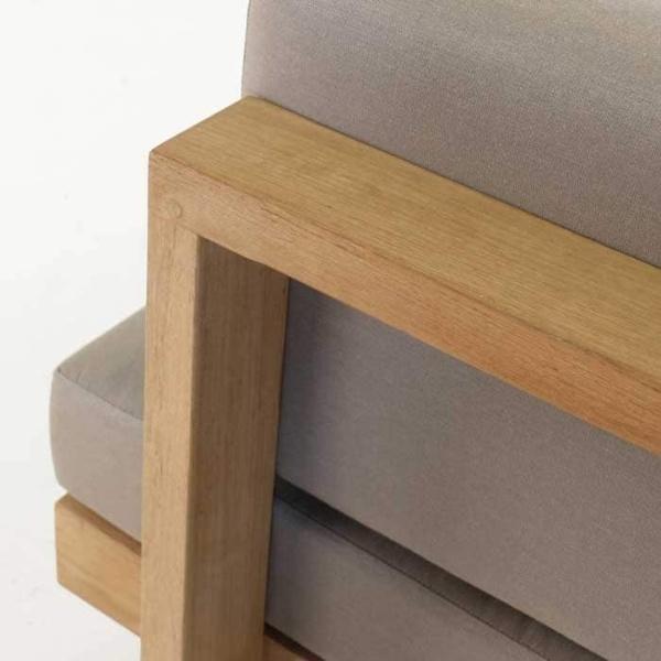 high quality teak chair closeup image