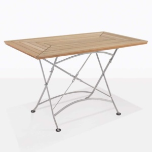 cafe rectangle teak folding outdoor table