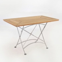 cafe rectangle teak dining table