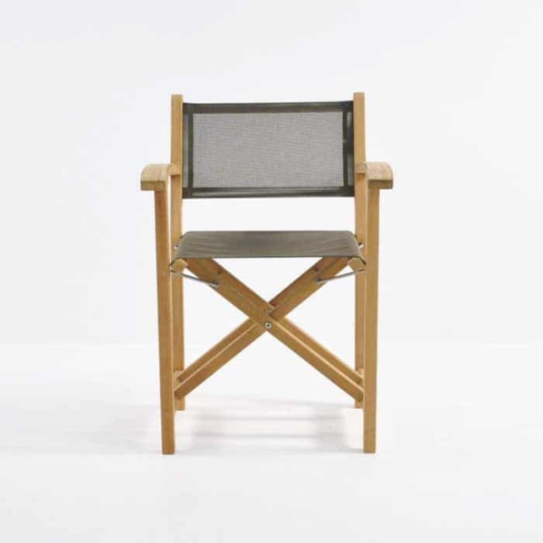 cannes teak directors chair front view