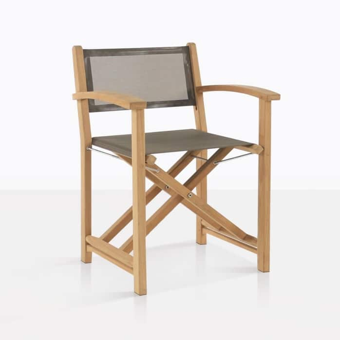 cannes directors chair teak taupe