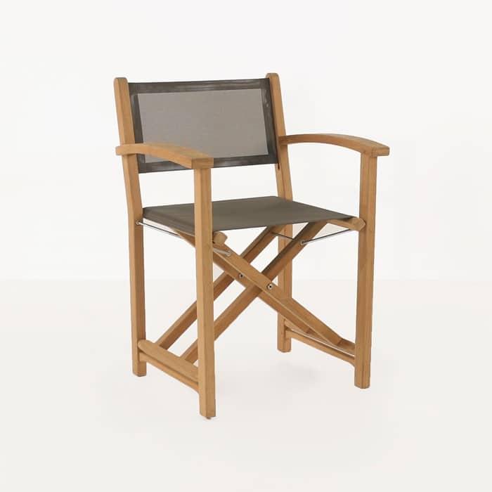 Cannes Dining Teak Directors Chair Design Warehouse Nz